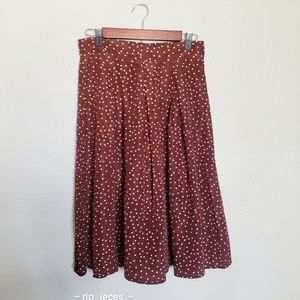 4 for $25 shein brown polka dot A line ski…
